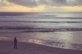 gazing at ocean