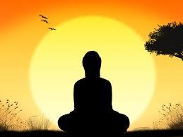 buddha meditating dawn