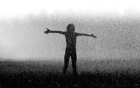 rain embracing