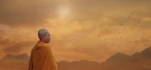 buddhist monk image beautiful sky